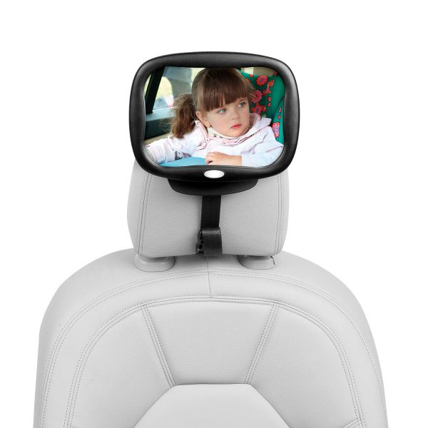 Espejo retrovisor con luz silla bebe - 160808b