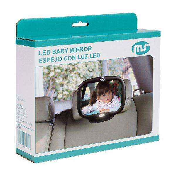 Espejo retrovisor con luz silla bebe - 160808d