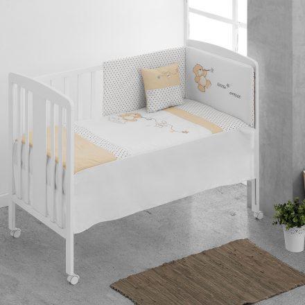 Zdejmowany ochraniacz + kołdra + prześcieradło + poduszka do łóżeczka - kolekcja little artist