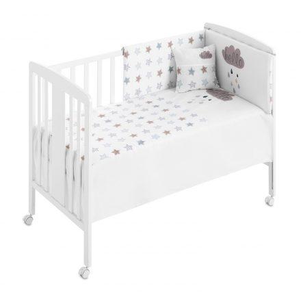 Zdejmowany ochraniacz + kołdra + prześcieradło + poduszka do łóżeczka - kolekcja stars